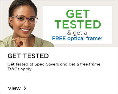 Get tested and get a FREE optical frame
